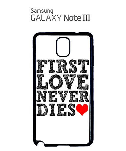 First Love Never Dies Red Heart Mobile Phone Case Samsung Note 3 White Blanc