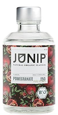 Infuseur bouteille de thé, eau et cocktail JUNIP | 100% BIO sans additifs artificiels ni sucres ajoutés | Faible en calories | Grenade