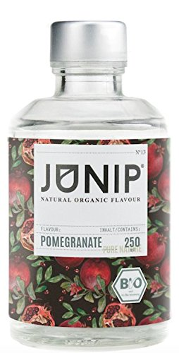 Spa Wasser (JUNIP Organics - natürliches Bio Aroma (Granatapfel), 250 ml Flasche für 50 Gläser Wasser)
