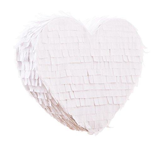 Pinata in Herzform | weiß