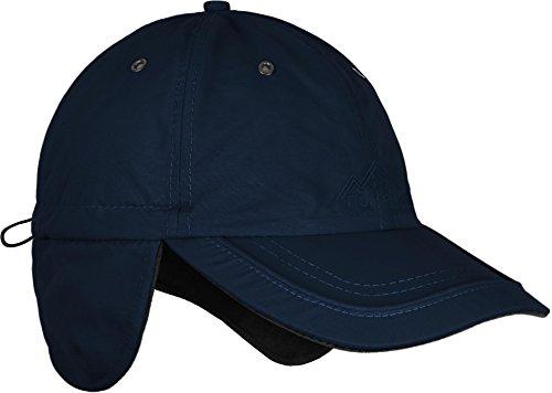 Wintermütze Cap verstellbar mit Ohrenschutz und Fleece-Innenfutter? Farbe Navy (Navy Cap Verstellbar)