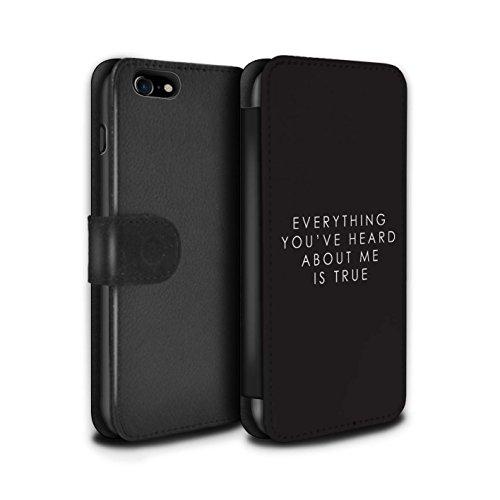 Stuff4® PU-Leder Hülle/Case/Tasche/Cover für Apple iPhone 8/Lando Zitat Muster/Weltraum-Western-Film Kollektion (Western-leder-handy-fälle)