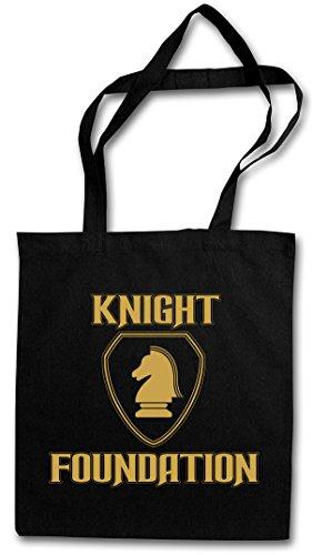 Black Knight Foundation Logo Shopper Reusable Shopping Cotton Bag