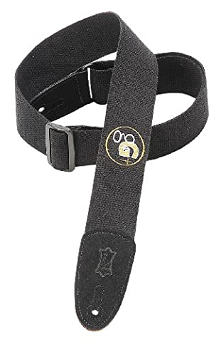 Levy's Leathers 2 inch Cotton Guitar Strap with G4g Embroidered Design - Black