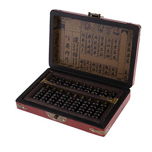 sharprepublic Sammlungen Handmade Retro Antike Zivilisation Chinesische Antike Taschenrechner Abacus + Holzkiste (Taschenrechner Spielzeug)