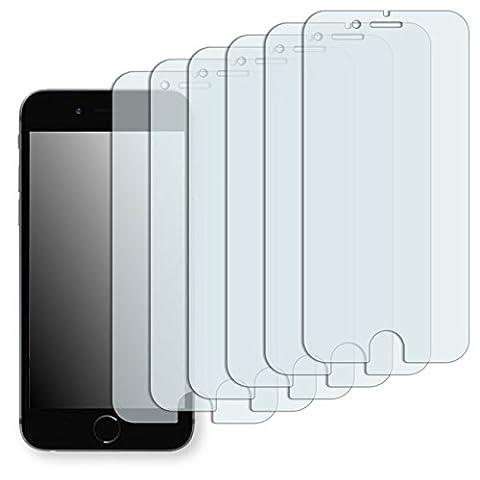 6 x Golebo Displayschutzfolie für Apple iPhone 6 / Apple iPhone 6s Schutzfolie Folie
