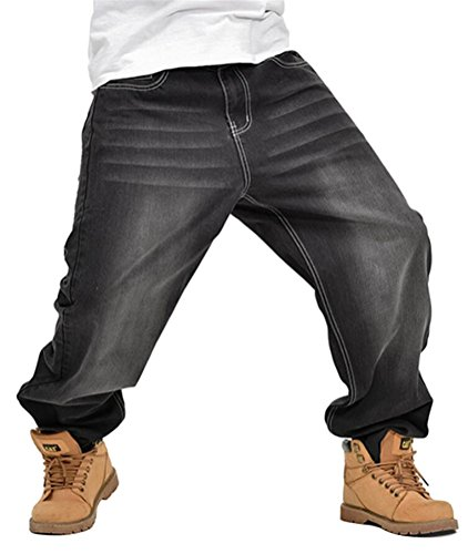 Chomay Herren Baggy Jeans Hose Hip-Hop Stil loose fit Tanzhose Clubwear Freemove W40