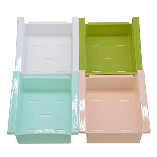 Kühlschrank Schubladen Kunststoff Küche Kühlschrank Kühlschrank Aufbewahrung Rack Gefrierschrank Regal Halter Küche Space Saver Organisation 4 - 4 Regal Space Saver