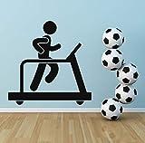 Xbwy Laufband Silhouette Leichtathletik Wandaufkleber Gym Home Art Decals 50X50Cm