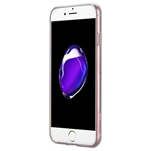 "Coque iPhone 7 Plus, Etui iPhone 7 Plus , Housse iPhone 7 Plus (5.5""), GrandEver Coque Silicone 3D Diamant Bling Sparkle Transparente Crystal Clair Back Case TPU Bumper Cover Plume Attrape Rêve Motif  Plume"