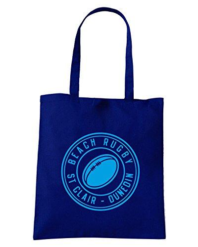 T-Shirtshock - Borsa Shopping TRUG0087 ruggershirts beach rugby hoodie logo Blu Navy