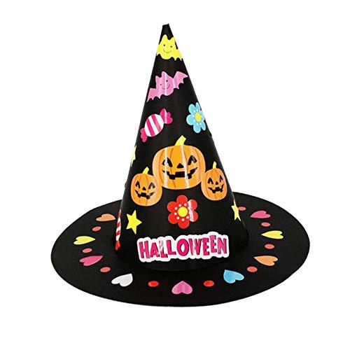 LAAT Kürbis Hut Halloween Hut Hexe Hut DIY handgemachte Kinder Kostüm Hut (Diy Hexen Kostüm)