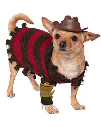 Nightmare on Elm Street Hundekostüm Freddy Krueger (Krüger Freddy Outfit)