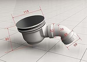 Bonde d 39 coulement siphon pour bonde avec 90 mm de for Bonde de douche italienne