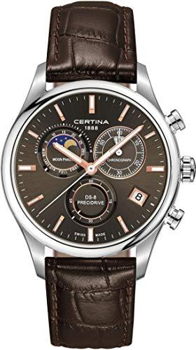 Certina DS-8 Moon Phase C033.450.16.081.00 Chronographe pour homme Indicateur de la phase de la lune