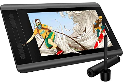 XP-PEN Artist 12 Grafikmonitor Grafiktablett 1920 X 1080 HD IPS mit Touch Bar Zeichnen Pen Display Drawing Pen Tablet (Schwarz)