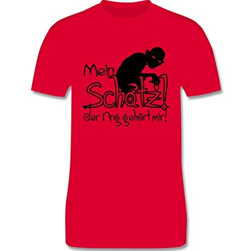 JGA Junggesellenabschied - Mein Schatz der Ring gehört mir - Herren Premium T-Shirt Rot