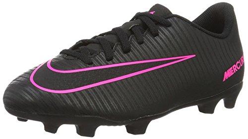 Nike Mercurial Vortex Iii Fg, Scarpe da Calcio Unisex - Bambini, Nero (Black/Black), 38.5 EU