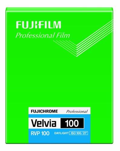 Fujifilm 16326157 Velvia 100 Dia-Farbfilm 4x5 (20 Blatt) (Fujifilm Profi-kamera)