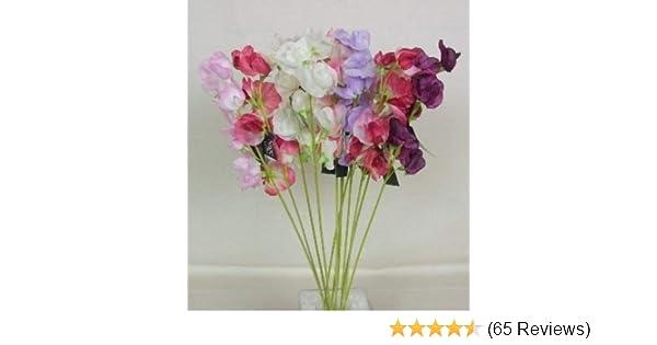 Artificial Silk Flowers Mixed Sweet Peas x 12 Home Garden Decor