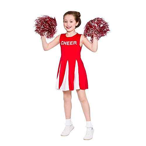 Girls Cheerleader - Red 2016 Kids Costume