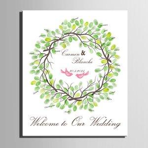 Struttura di impronte digitali firma Tela auto nozze regalo di nozze decorazioni per matrimoni molti (Cioccolato Photo)