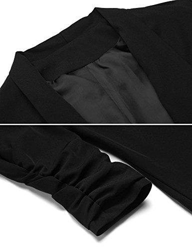 Damen Blazer kurzeJacke Langarm Elegant Casual Business Büro Anzug Basic in Schwarz Blau Schwarz