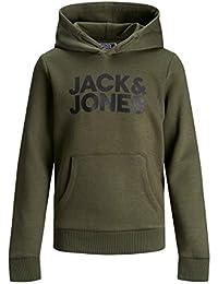 Jack & Jones Jjecorp Logo Sweat Hood Noos Jr Sudadera con Capucha para Niños