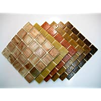Mosaico Piastrella Miscela Caldo Terra Marrone 150 Piastrella Mix - Mix Piastrelle