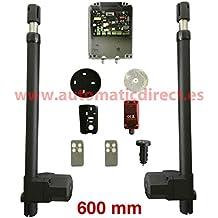 Kit de motor para puerta automática batiente de 2 hojas + 1 cuadro de maniobra SW