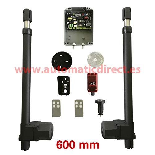 Kit de motor para puerta automática batiente de 2 hojas + 1 cuadro de maniobra SW + 1 fotocélula de espejo + 2 mandos + 1 mando universal lighter car (600 mm)