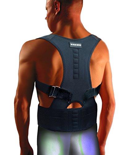 The Healing Universe - Kyphosis Bandage - Für eine Geradehaltung des Rückens und der Schultern (Black, 2-XL)