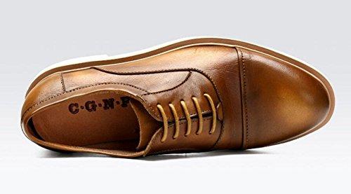 Scarpe da donna in pizzo per gli uomini Oxford Inghilterra Scarpe da ballo di scarpe da uomo Casual Scarpe in pizzo di cuoio di alta qualità Red Khaki Nero Brown