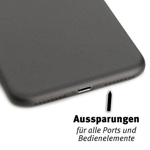 ArktisPRO iPhone 7 Plus Federleichte Schutzhülle matt schwarz-transparent Schwarz/Transparent