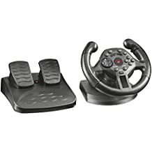 Trust GXT 570 Gaming Steering Wheel with Pedals and Vibration Feedback for PC and PS3 - Black