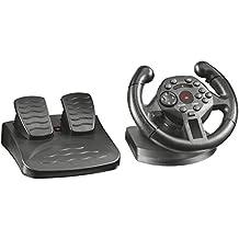Trust GXT 570 - Volante Gaming de competición con respuesta de vibración para PC y PS3, negro