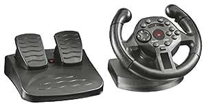 Trust Gaming 21684 GXT 570 Volante da Corsa con Feedback a Vibrazione per PS3 e PC, Nero