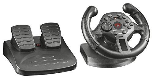 Trust GXT 570 PC & PS3 Lenkrad (mit Vibrationsfeedback, 13 reaktionsschnelle Taste, 100 Grad Lenkeinschlag, für PlayStation 3 und PC) schwarz