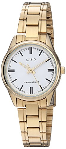 Analog Uhr Gold Casio (Casio Collection LTP-V005G-7AUDF Damenuhr)