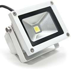 SHOPEE BRANDED Waterproof 20W Cool White LED Flood Light Pure White AC 90-264V for Indoor & Outdoor Use 20 Watt