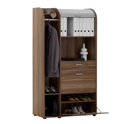 FMD Profi 44 Cabinet on Wheels WxHxD 102.0x76x65 cm Plum