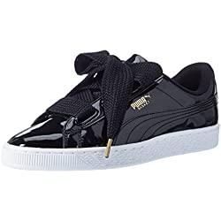Puma Basket Heart Patent, Baskets Basses Femme, Noir (Black-Black), 37.5 EU