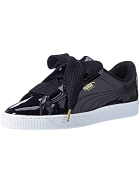 Puma Damen Basket Heart Patent Low-Top Sneaker