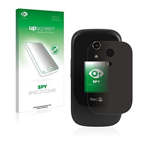 upscreen Spy Shield Clear Blickschutzfolie/Privacy für Doro 7060 (Äußeres Bildschirm) (Sichtschutz ab 30°, Kratzschutz, selbstklebend)