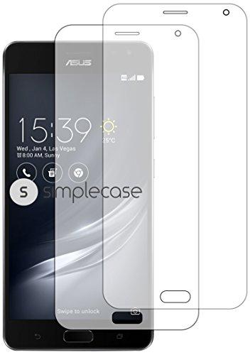 Simplecase Premium Bildschirmschutz Größe: Asus ZenFone ARtwin pack aus 9H Panzerglas/ Echtglas/ Verb&glas - Transparent
