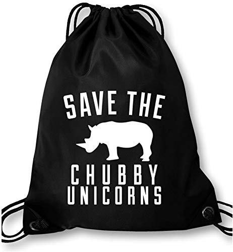 AngryShirts Save the chubby Unicorn Turnbeutel