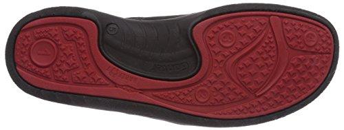 Ganter BAREFOOT-Women, Weite G, Scarpe Derby con lacci donna Multicolore (Mehrfarbig (schwarz / rosso 0141))