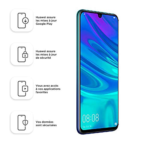 Huawei P Smart 2019 Smartphone Débloqué 4G (6,21 pouces - 3/64 Go - Double Nano-SIM - Android) Bleu