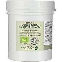 Naissance Burro di Cacao Non Raffinato Certificato Biologico Naturale al 100% - 100g