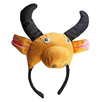 Ochse Kopfband - SODIAL(R)3D Kuh Ochse Kopfband Tier Bauernhof Erwachsene Kinder Kostuem Maske - Maskenball Kostüm Kinder